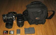 Canon EOS Rebel XT / 350D Silver 8 MP DSLR Camera 18-55mm 80-200mm Lenses Extras