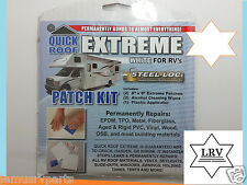 "RV,  Travel Trailer, Camper Roof Patch Kit  White 8""x 8"""
