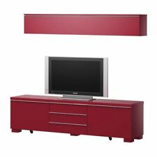 BESTÅ IKEA BURS TV UNIT BENCH HIGH GLOSS CABINET