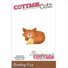 COTTAGE CUTZ ANIMALS - RESTING FOX CUTTING DIE BY THE SCRAPPING COTTAGE NEW 2015