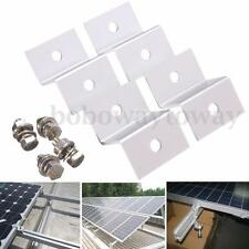4Pcs Z style Solar Panel Mounting 4 Kits Aluminum Brackets for RV Boat Off Grid