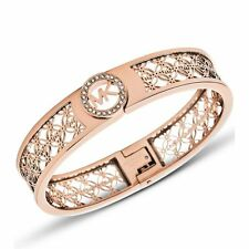 NWT Michael-Kors MKJ4147791 Jewelry  PVD Rose Gold  Plating Heritage Bangle