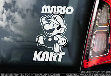 Mario Kart! - Car Window Sticker - Super Bros Nintendo Game Art - n.Luigi