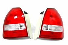 96-00 Honda Civic EK EM1 HatchBack 3dr Si Red Clear Tail lights Frosted OE Style