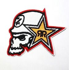Rock Star Energy Biker Motocycle Motocross Racing Sports Applique IRON ON PATCH