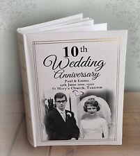 "Personalised large luxury photo album, 300 6x4"" photos, 10th Wedding anniversary"