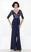 Authenic Cameron Blake by Mon Cheri 114663-Color:Navy-Size 18-Mother of Bride