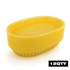 12pcs/lot Large Fast Food Platter Basket Black Plastic Basket Red Dinner Baskets