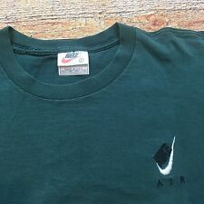 90s VTG NIKE OG AIR SWOOSH EMBROIDERED L Logo DISTRESSED Faded T Shirt Made USA