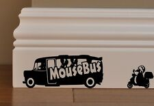 Mouse  Bus and Scooter Funny decal vinyl stickers wall art