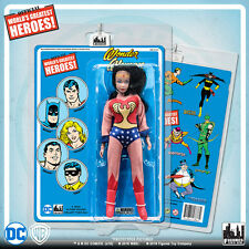 Official DC Comics Wonder Woman 8 inch Action Figure on Mego-Like Retro Card