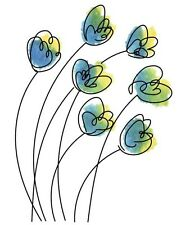 Rubbernecker Stamps Cling Mounted Rubber Stamp Set Breezy Flowers 912