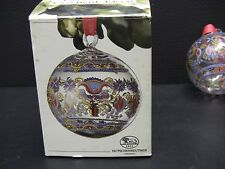 HUTSCHENREUTHER Christmas Crystal Ball Ornament 1991 - Hungary - 1st in Series