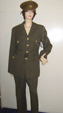 MENS WW2 1940s WAR TIME BRITISH ARMY OFFICER FANCY DRESS UNIFORM COSTUME M USED