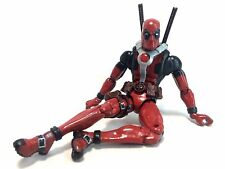 "ToyBiz 2012 Marvel Legends CUSTOM PAINTED Deadpool 6"" Action Figure Loose EUC"