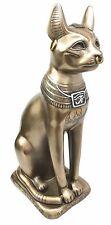 """Ancient Egyptian Goddess Deity Bastet Large 11.5""""H Figurine Ubasti Bast Cat"""