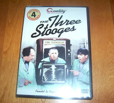 THE THREE STOOGES Larry Moe Curly Classic Comedy Team 4 Episodes on DVD NEW