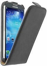Ultra Slim BLACK Leather Case Cover For Samsung Galaxy S4 GT-i9515 / GT-i9505G
