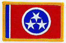 AUFNÄHER Patch FLAGGEN flagge TENNESSEE USA STAATEN flag Fahne 7x4.5cm