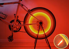 New Super Bright Bike Bicycle Wheel Valve Tire Spoke LED Light Magnet Base-Red