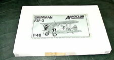 1/48 GRUMMAN F3F-3 BY AEROCLUB (#8) BEAUTIFUL FULL KIT - VAC-FORM PLUS METAL PAR