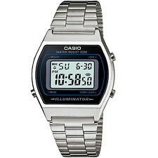 Casio Unisex Chronograph Stainless Steel Vintage Stopwatch Retro Watch Sliver