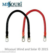 6 # 4 battery cables 1 foot red and 1 foot black 4 battery bank Solar RV Marine