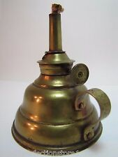 Antique Brass P&A Mfg Co Oil Lamp small ornate floral scrollwork vines handle
