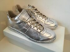 "Deadstock Maison Martin Margiela ""Replica low"" feuille d'argent baskets/formateurs"