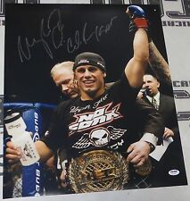Urijah Faber Signed UFC 16x20 Photo PSA/DNA COA Picture Autograph WEC w/ Belt 26
