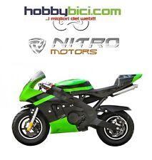 Minimoto PS 60 MOSSI Carburatore maggiorato Frizione racing NITRO MOTORS VERDE