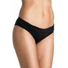 ROXY WRAPSODY CHEEKY SCOOTER BIKINI HIPSTER SWIM BOTTOMS BLACK LARGE NEW!! $40