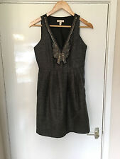 URBAN OUTFITTERS SILENCE + NOISE HERRINGBONE TWEED SPARKLE POCKET DRESS 4 UK 8