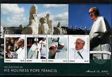Grenada 2013 MNH Election His Holines Pope Francis 4v Sheet Easter Mass Religion