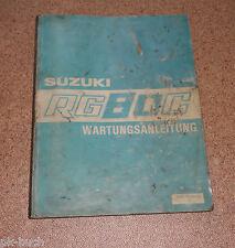 Werkstatthandbuch Suzuki RG 80 C Stand 08/1985