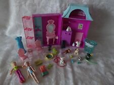 Polly Pocket Pet Salon Grooming Store House WITH Pets Dolls & Accessories