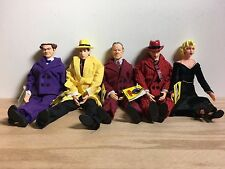 Set Of 5 Vintage Dick Tracy Action Figure Dolls With Tags By Applause