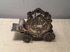 Storck & Sinsheimer Antique German Hanau 800 Silver Ornate Carriage Miniature