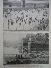 1918-19 ARMY OF OCCUPATION ON THE WINTRY RHINE COLOGNE ICE SKATING WW1 WWI