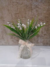 Artificial / silk lily of the valley arrangement in artificial water