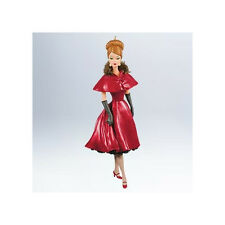 "2011 Hallmark ""Ravishing in Rouge"" Barbie Ornament - Fashion Model Collection"