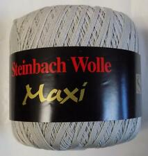 STEINBACH WOLLE MAXI MERCERIZED COTTON LACE YARN 100g 1 BALL SILVER (17K)