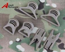 Tan Tactical Goggle Swivel Clips for Fast Helmet Rails Airsoft Military Hunting