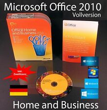 Microsoft Office Home and Business 2010 VERSIONE COMPLETA BOX + DVD tedesco OVP NUOVO