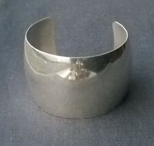 Great quality solid 925 Sterling silver extreme wide look cuff style bangle 6.75