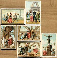 Chromo Liebig Sang. 255 ITA Un'ascensione alla Torre Eiffel ANNO 1889