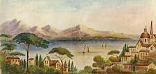 VIETRI GULF OF SALERNO ITALY Victorian Watercolour Painting c1880 IMPRESSIONIST
