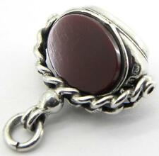 Victorian Solid Silver Wax Seal Spinner Fob, Birm 1898, By John Culver.