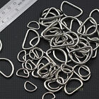 Lot10~100 Nickel Plated Metal Unwelded D Rings Webbing Strapping 1/2'' 3/4'' 1''