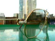 CARTIER VENDOME 1988 SANTOS 18K PLATE VINTAGE SUNGLASSES 59MM